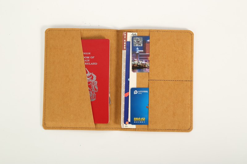 Paper bamboo often travel passport holder
