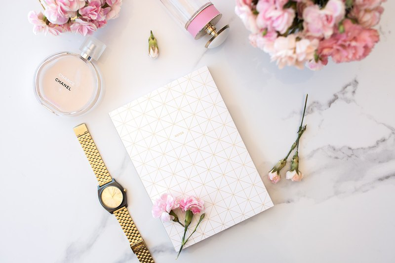 Minimalist Notebook (White/Gold) - Blank