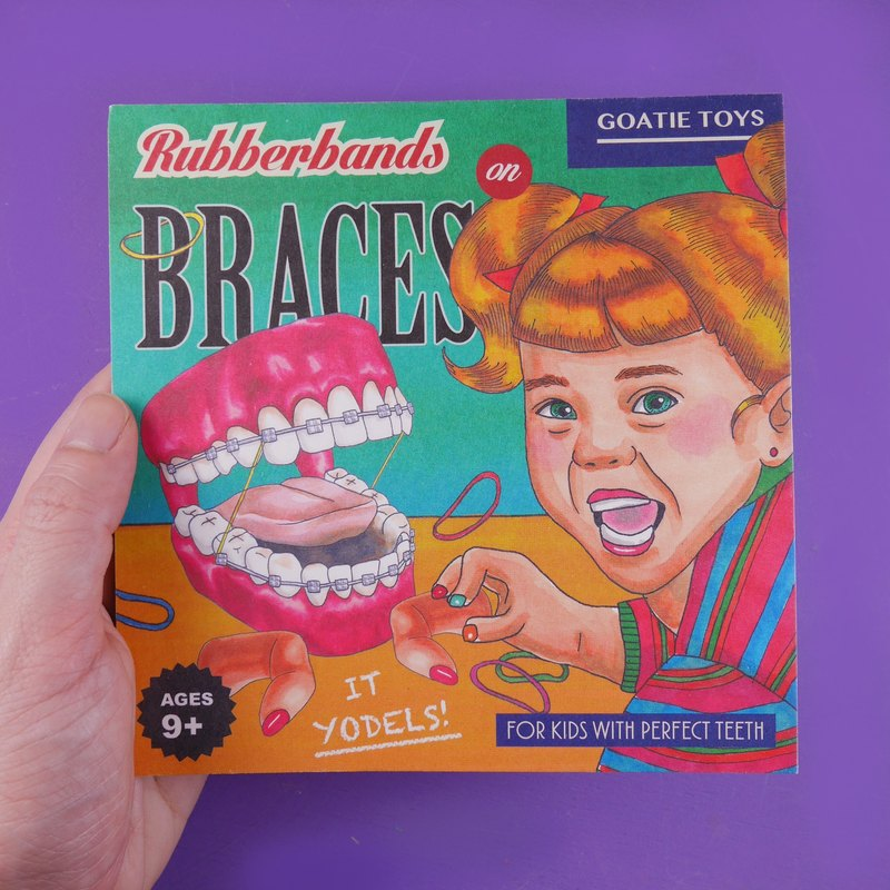 Vintage Toys Postcard - Rubberbands on Braces