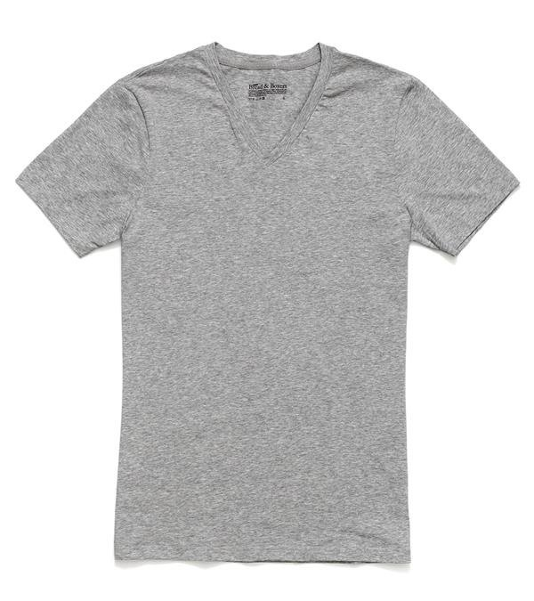 [Strictly selected] Bread and Boxers V-NecK Nordic Swedish brand T gray T
