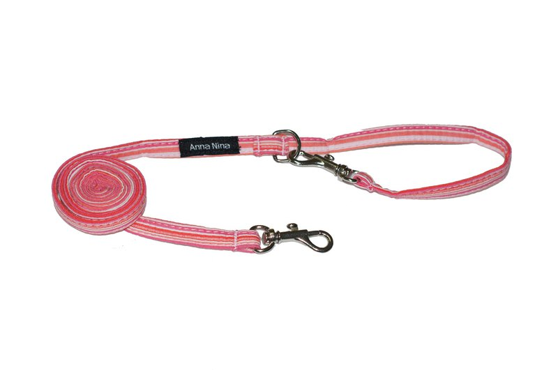 Pet leash fast buckle drawstring powder light stripe