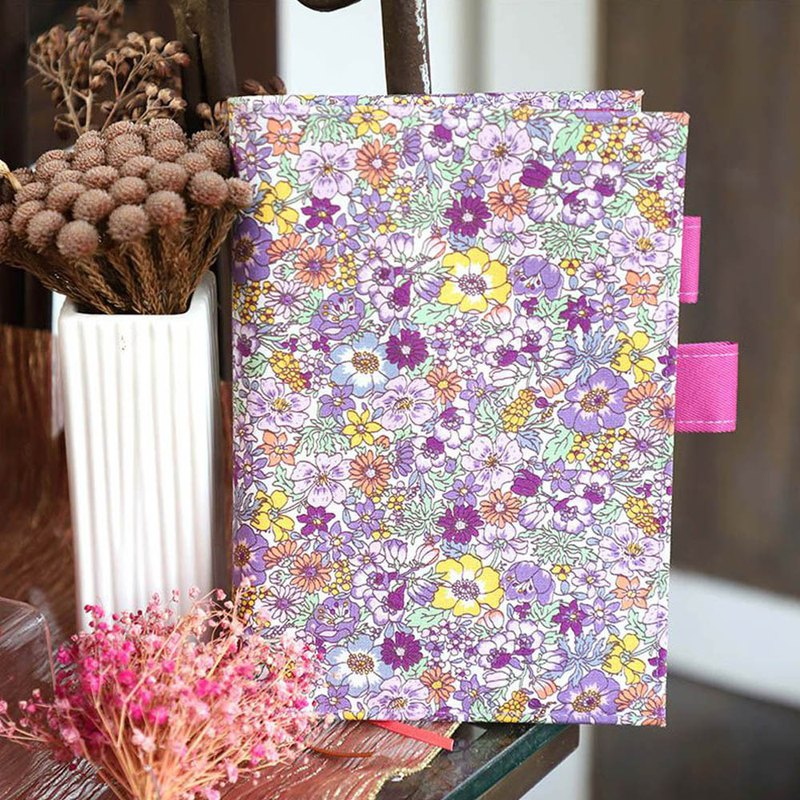 A6/50K flower cloth double pen insert book / book cover / book cover - official sale