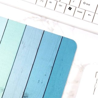 Blue Ombre Wood Mousepad Desk Accessories