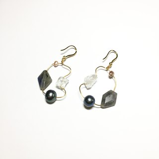 Floating Gem Earrings - Magic Stone Settlement