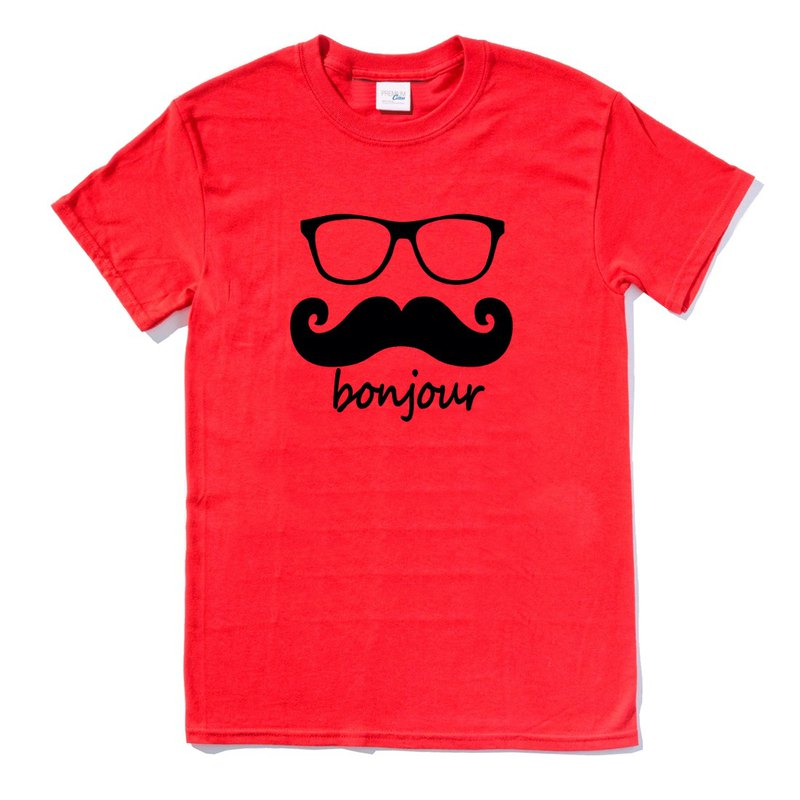 bonjour red t shirt