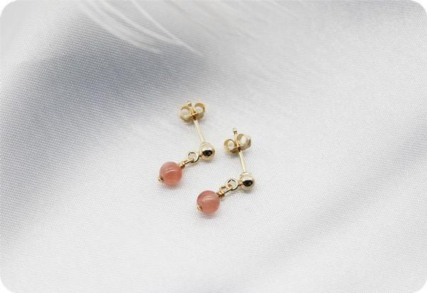 Roses of passion Inca rose short stud earrings / earrings accepted