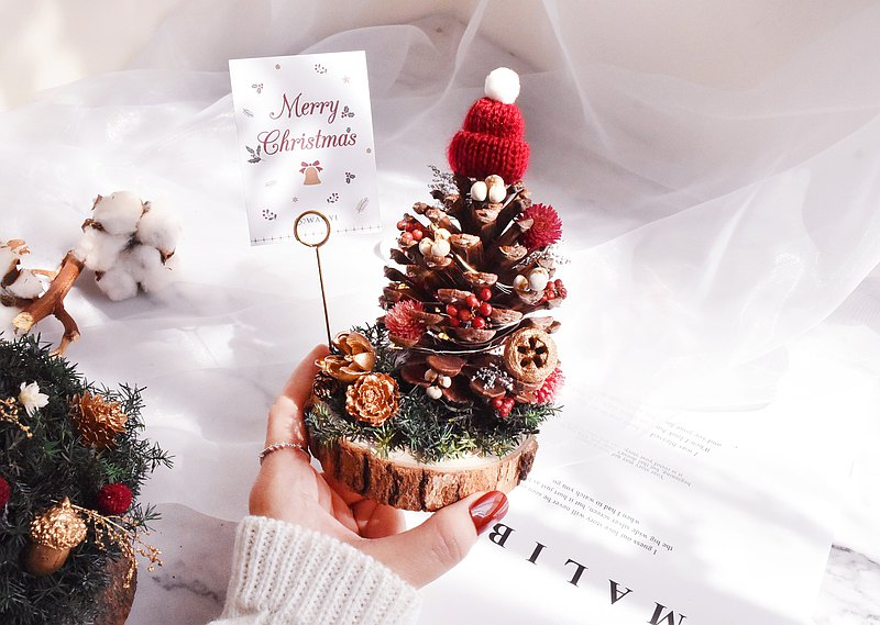 WANYI Christmas DIY Christmas tree dry flowers / exchange gifts / Christmas gifts with Christmas packaging