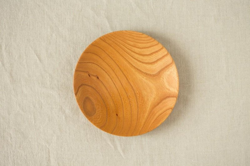 [Bimulous like ensure minute] tree 18cm 04 of the potter's wheel grind of wooden plate Zelkova (Zelkova)
