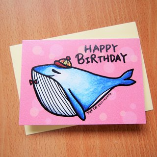 Birthday card - whale