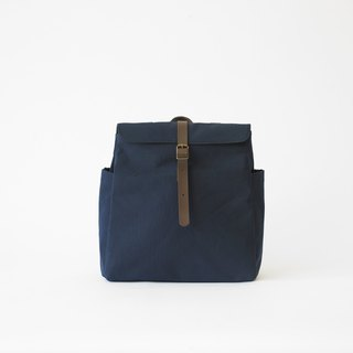|Handmade in Spain | Ölend Tokyo Canvas Backpack (Navy Dark Blue)