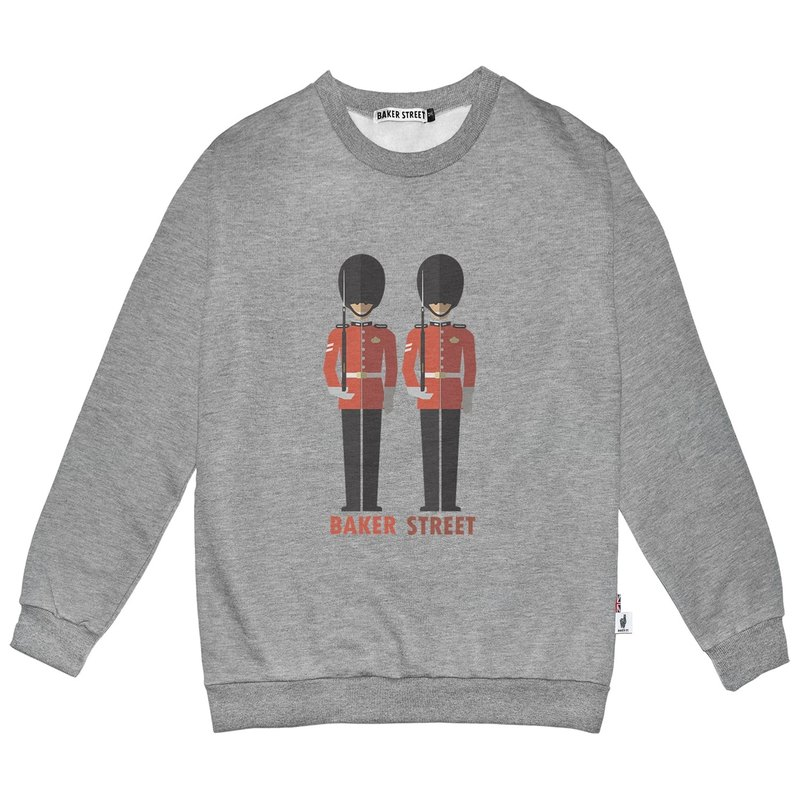 British Fashion Brand -Baker Street- Grenadier Guards Printed Sweatshirt