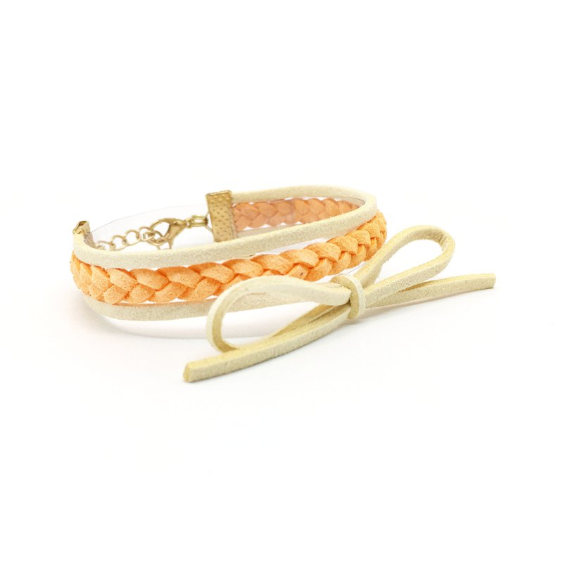 Handmade Double Braided Stylish Bracelets Rose Gold Series–orange limited