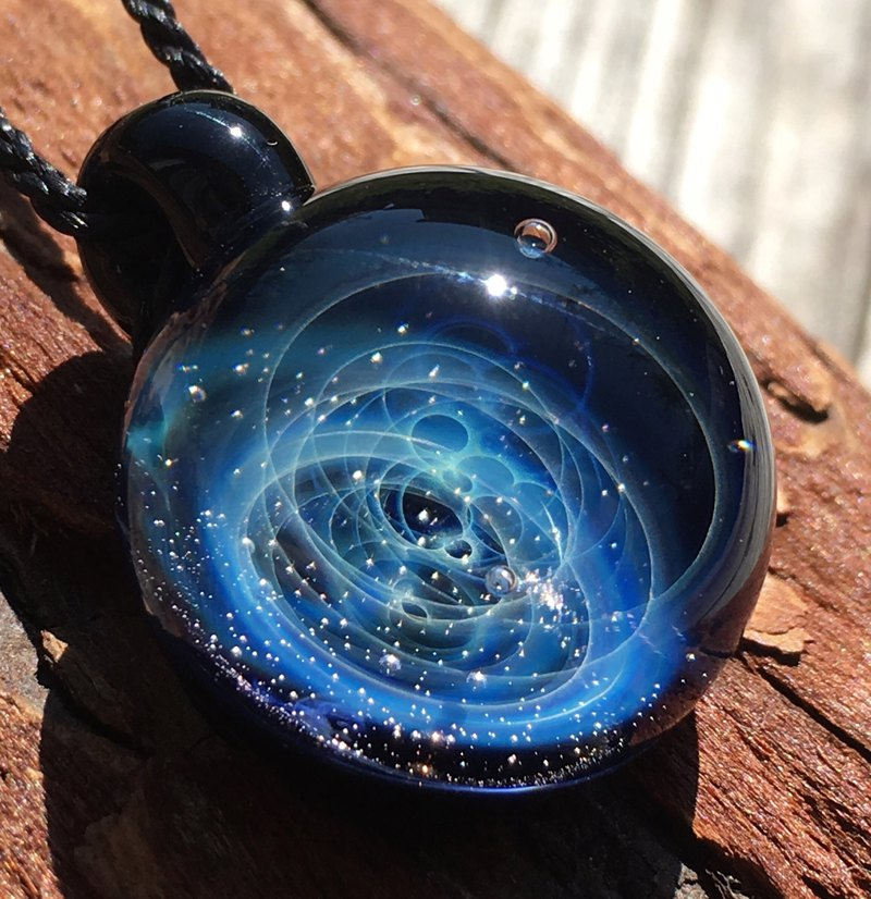 boroccus  A nebula  A galaxy  The solid design  Thermal glass pendant.