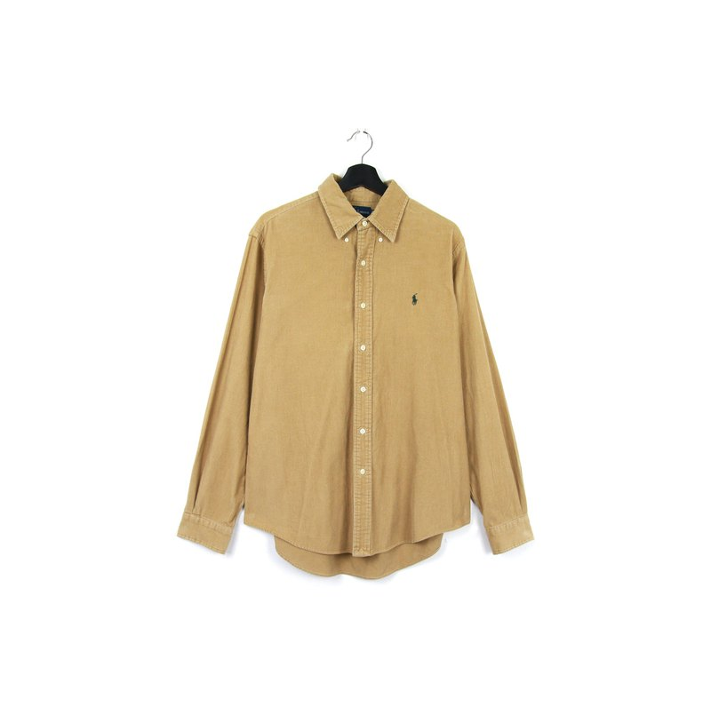 Back to Green :: Polo Ralph Lauren Khaki Corduroy / vintage shirt
