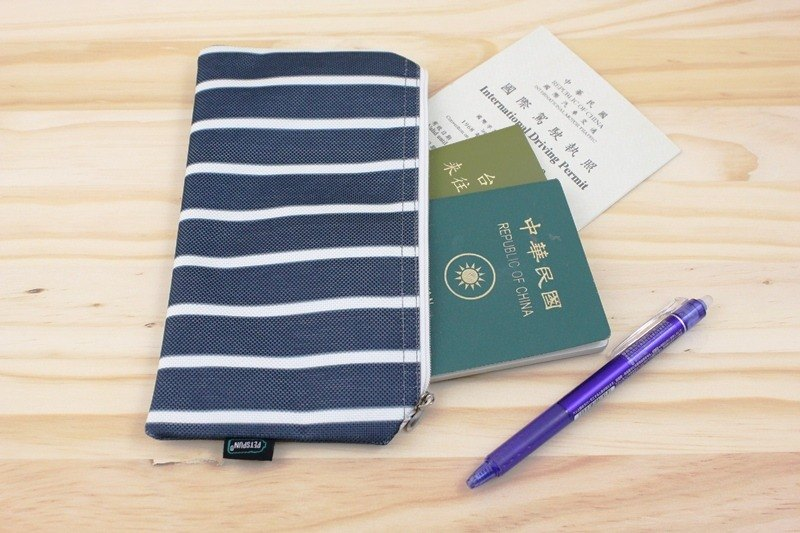 Blue and white ID folder [Bao Te bottle recycling environmental fiber fabric]