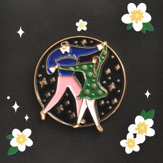 Draw My Paradise Brooch - Moonlight Night Dance