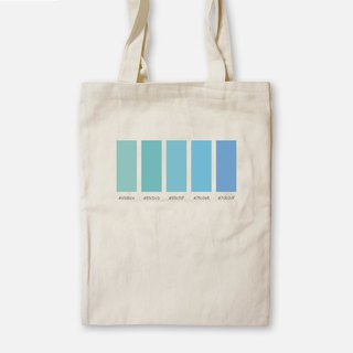 Tranquil sea that summer - painted canvas bag