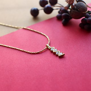 Meteor shower-zircon brass handmade necklace