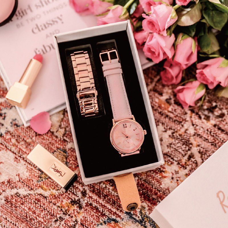 RELAX TIME Retro Sweet Model Retro Lady (RT-70-3) Rose Gold x Pink