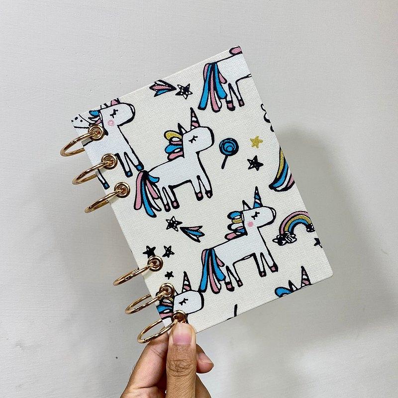 彩虹小馬 - A5 / A6 6孔活頁本 封面可水洗  無時效 行事曆 手帳