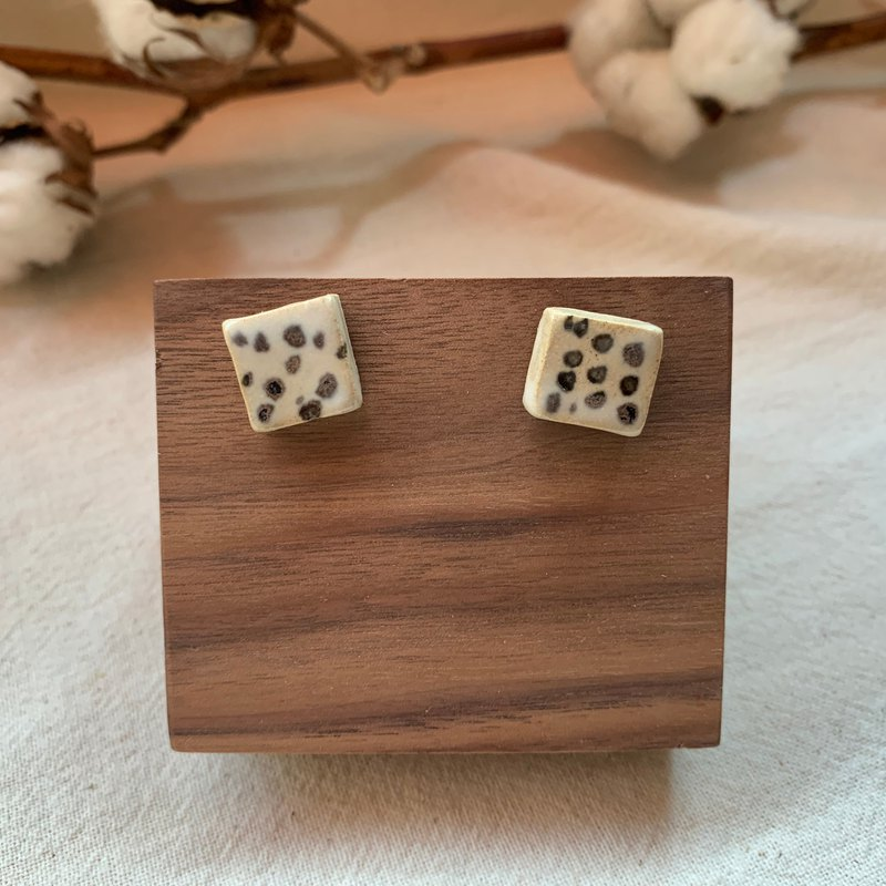 Clay Square Earrings 14