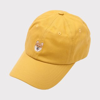 【Pjai】Embroidery Dad Hat - Yellow (AC101)