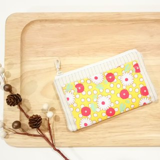 [FXS/ Four Degree Space Coin Purse] Small Daisy. Yellow x Orange x Green