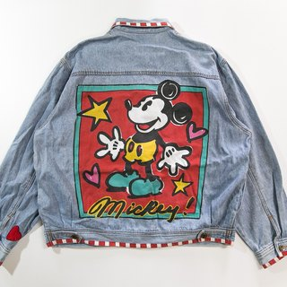 [3thclub Ming Hui Tong] the original denim jacket Mickey mickey CTJ-002 vintage