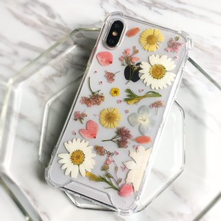 Spring Mu birthday gift dry flower mobile phone shell air pressure shell pressed flower mobile phone sets gift