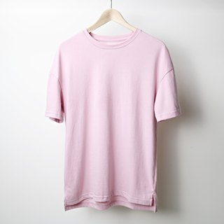 【RELEON】 Tiaobao T-SHIRT high-pound heavy-duty OVERSIZE most comfortable and most gentle style kick MIT pink
