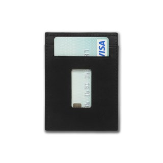 Slim Card Holder Minimalist Wallet - Haru Wallet (Crazy Horse Graphite Black)