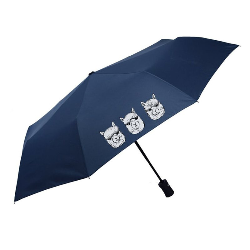 British Fashion Brand -Baker Street- Alpaca Printed Folding Umbrella