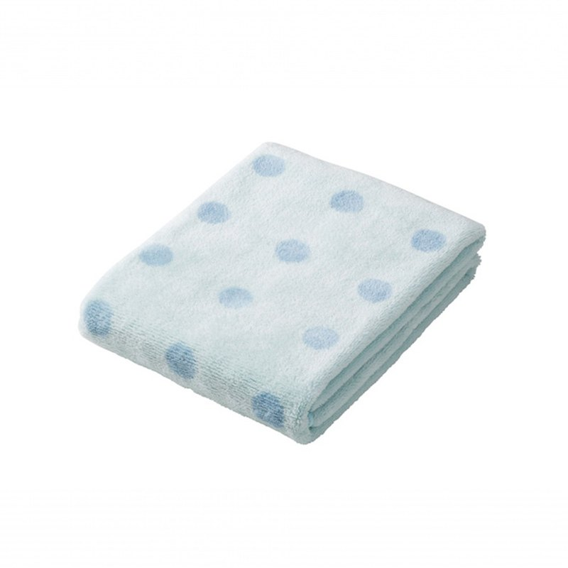 CB Japan bubble gum dot series microfiber 3 times water-absorbing wipes dot blue