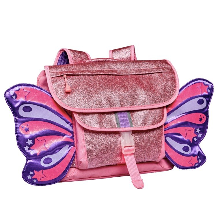 American Bixbee Fly Child Series - Pink Glitter Butterfly Child Backpack