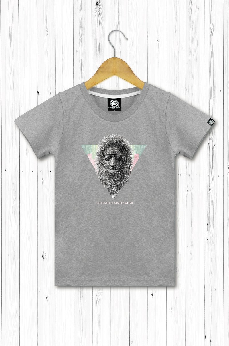 STATELYWORK Underworld lion female short T 桖 women's wear gray