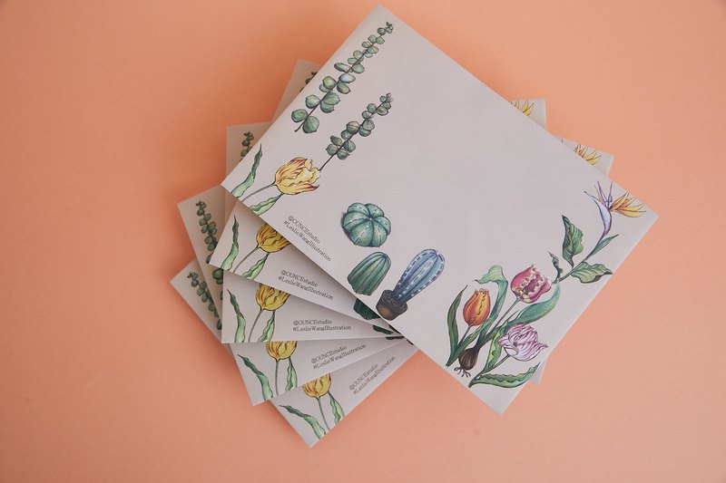 Botanical Garden Style Envelopes