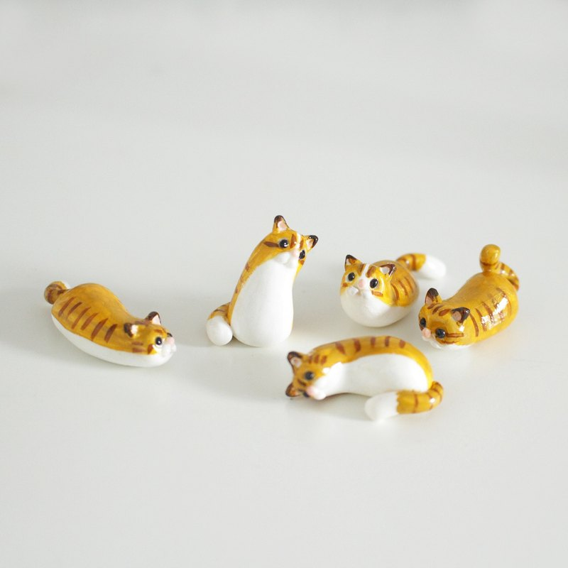 【Limited edition】Tabby Cats mini home decor