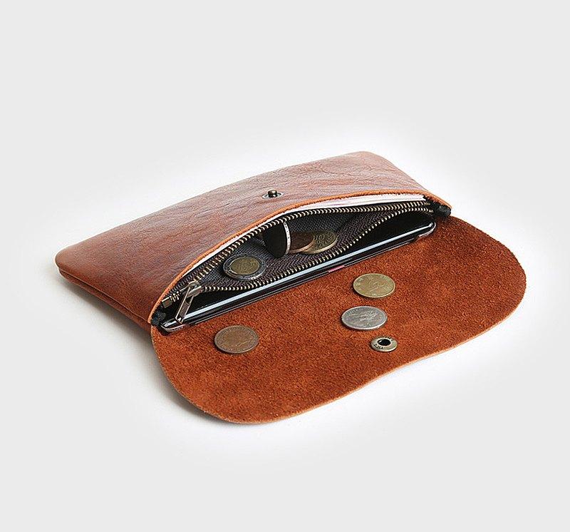 長款真皮錢夾 簡約錢包 日常手拿手機錢包