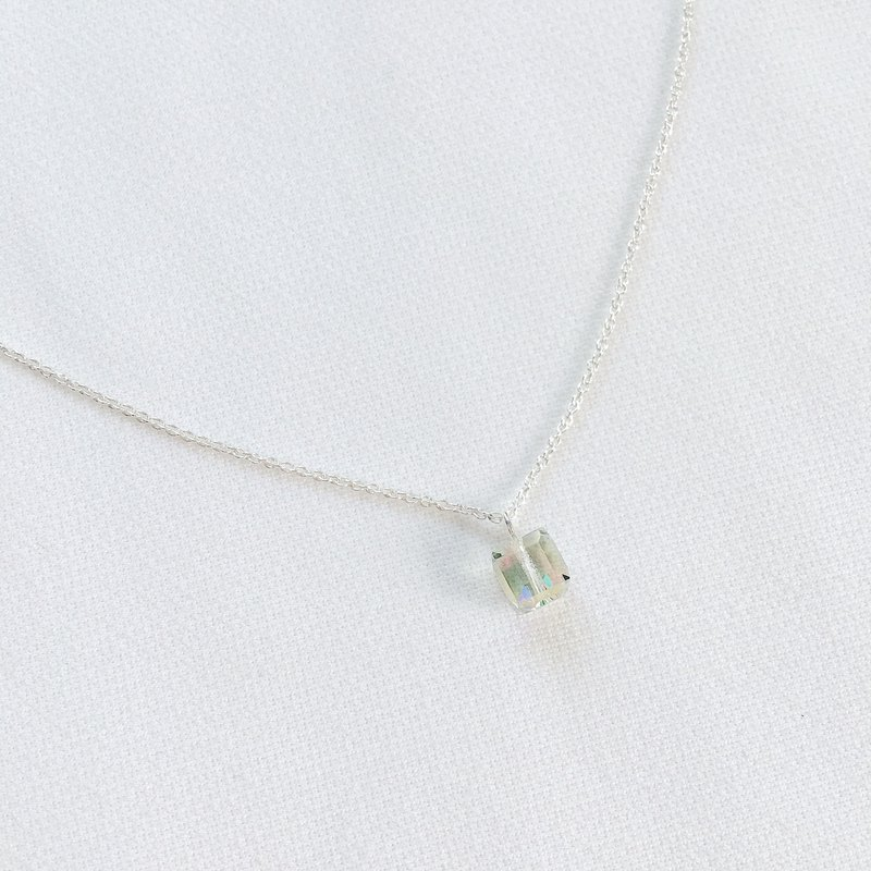 Time gift box clavicle chain S925 sterling silver necklace anti-allergy