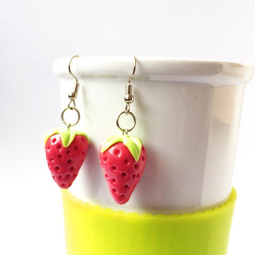 Strawberry earring