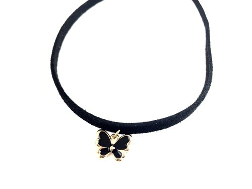 """Black Butterfly Necklace"""