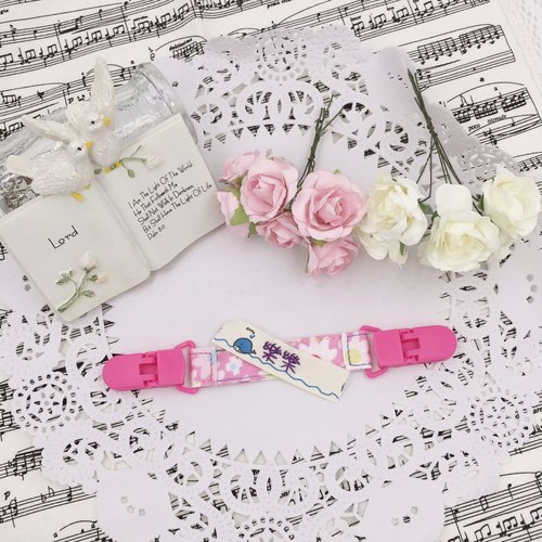 * Princess puff sugar - Hand-headed handkerchief ★ Universal clip clip pacifier clip ★ ★ ★ Name Article Kindergarten necessary Flag ★ E-33
