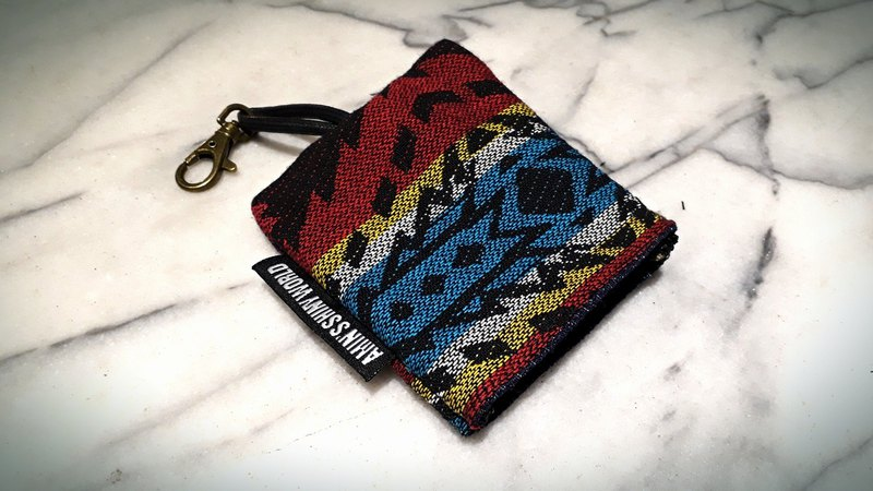 AMIN'S SHINY WORLD handmade ethnic wind rough knit key bag a1