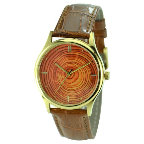 Christmas Gift Tree Ring Watch Gold Unisex Free Shipping Worldwide