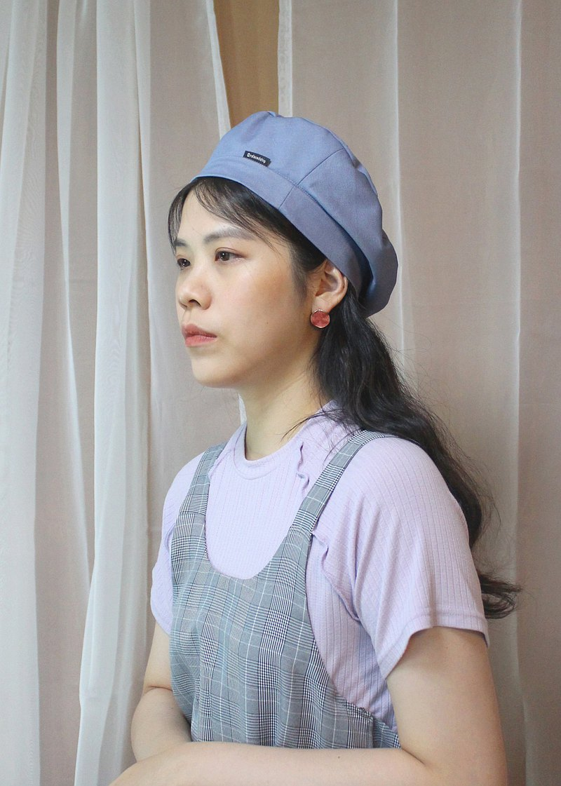 Spring and summer thin beret-fog blue