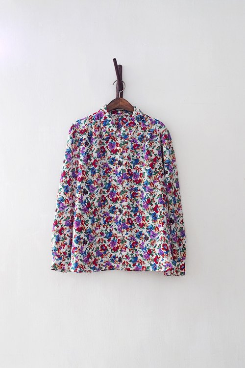 Banana Flyin '| vintage | Japanese temperament long-sleeved floral shirt