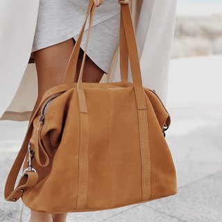FALL OF HEARTS Hand/Side Backpack _Tan / Camel