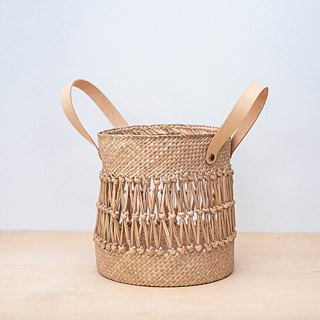 Round fishing net basket