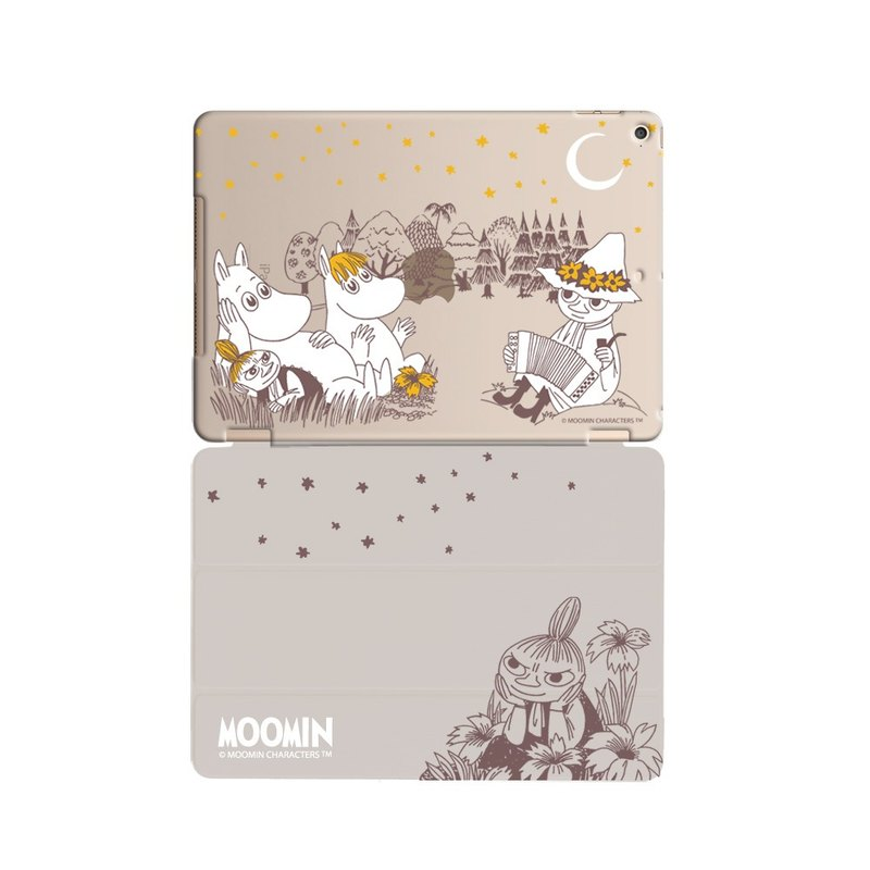 "Moomin Moomin genuine authority -iPad crystal shell: [A Midsummer Night] ""iPad Mini"" Crystal Case (gray) + Smart Cover (Grey / magnetic pole)"