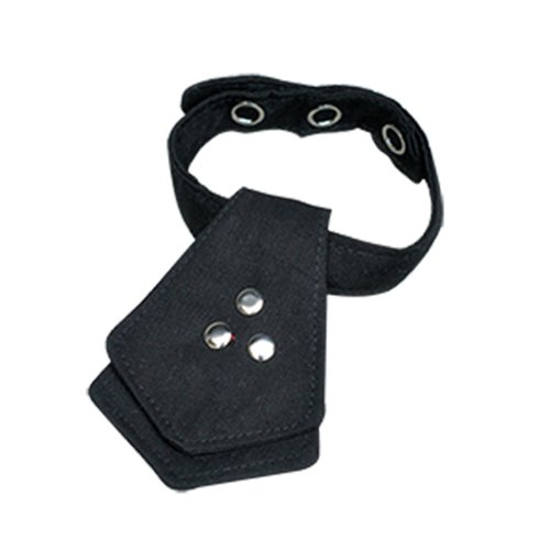 Cat collar plain black tie